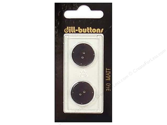 Dill 2 Hole Buttons 11/16 in. Black #340 2pc.