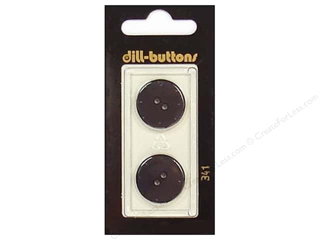 Dill 2 Hole Buttons 13/16 in. Black #341 2pc.