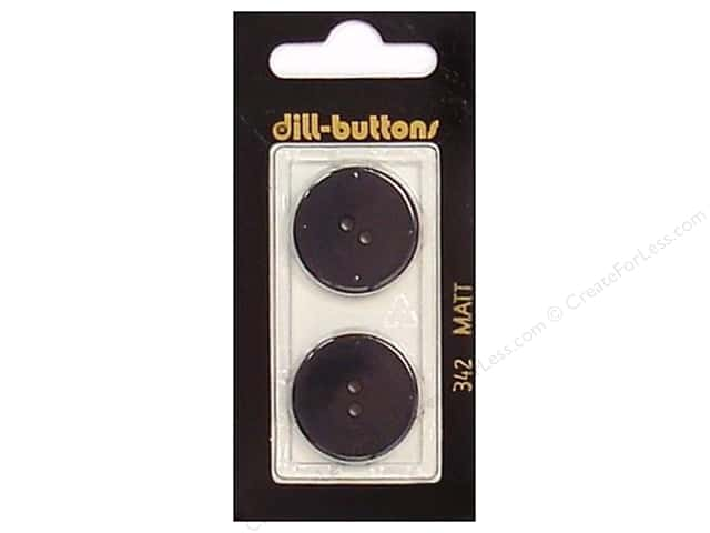 Dill 2 Hole Buttons 7/8 in. Black #342 2pc.