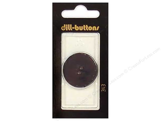 Dill 2 Hole Buttons 1 1/8 in. Black #343 1pc.