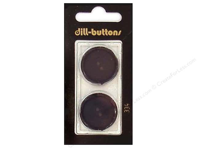 Dill 4 Hole Buttons 7/8 in. Black #334 2pc.