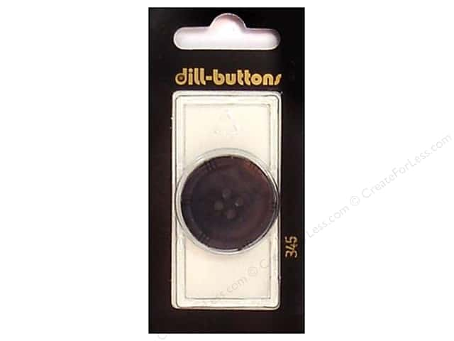 Dill 4 Hole Buttons 1 1/8 in. Black #345 1pc.