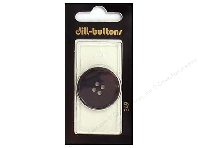 Dill 4 Hole Buttons 1 1/8 in. Black #349 1pc.