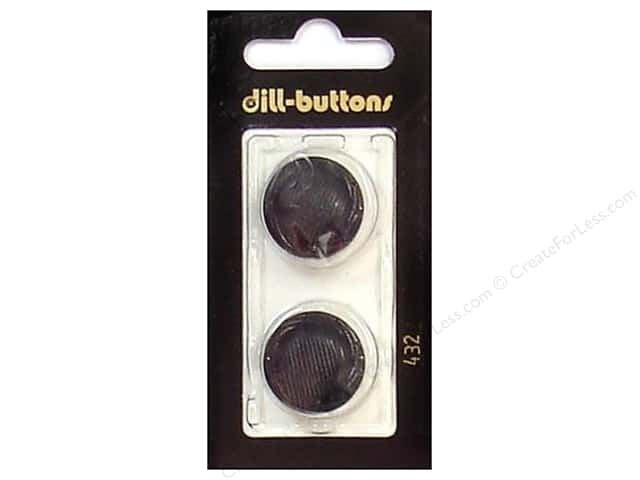 Dill Shank Buttons 7/8 in. Black #432 2pc.