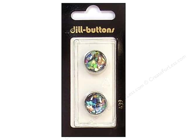 Dill Shank Buttons 5/8 in. Black/Confetti #439 2 pc.