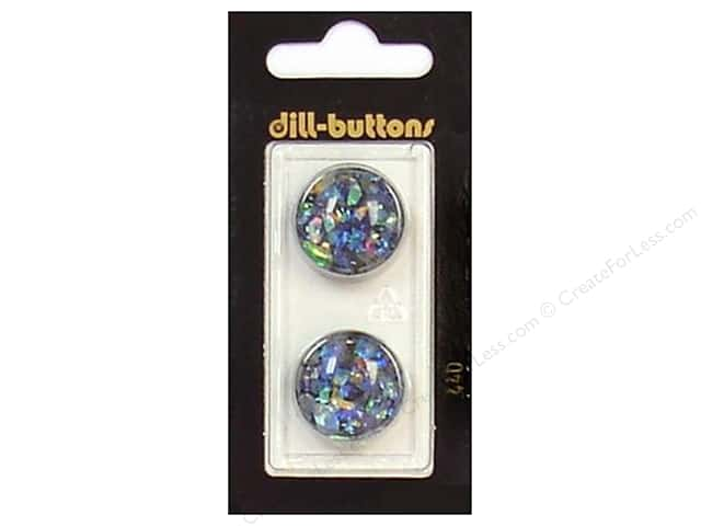 Dill Shank Buttons 13/16 in. Black/Confetti #440 2pc.