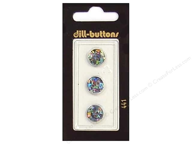 Dill 2 Hole Buttons 7/16 in. Black/Confetti #441 3pc.