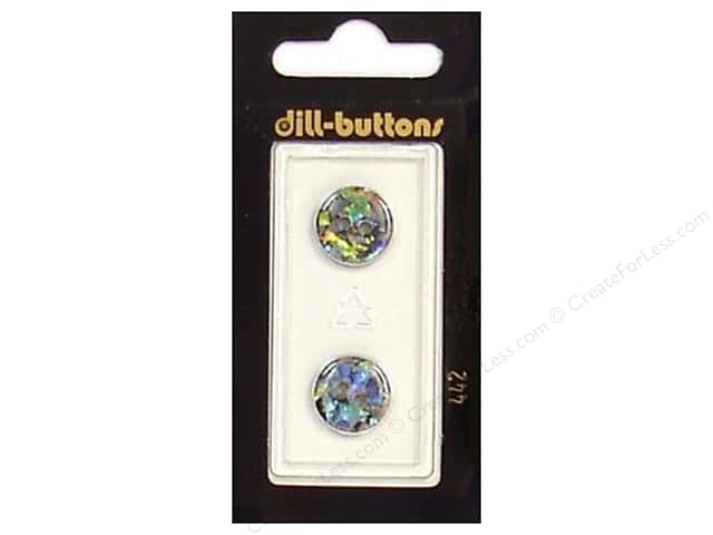 Dill 2 Hole Buttons 9/16 in. Black/Confetti #442 2pc.