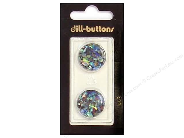 Dill 2 Hole Buttons 3/4 in. Black/Confetti #443 2pc.