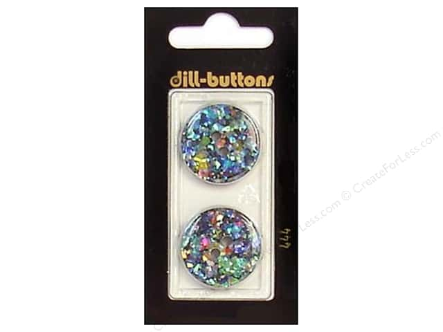 Dill 2 Hole Buttons 7/8 in. Black/Confetti #444 2pc.