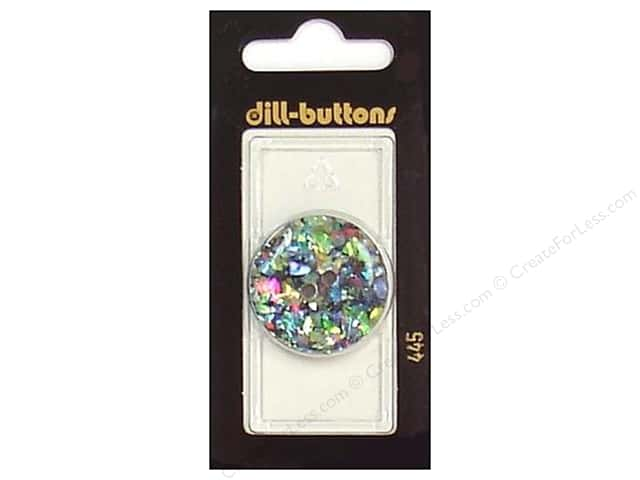 Dill 2 Hole Buttons 1 1/8 in. Black/Confetti #445 1pc.