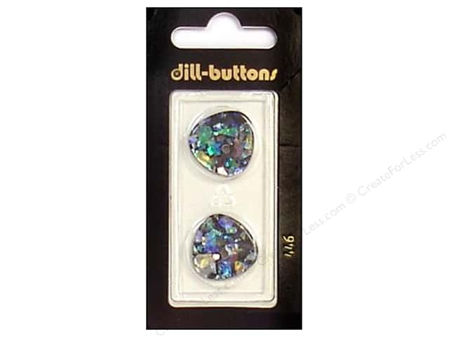 Dill 2 Hole Buttons 13/16 in. Black/Confetti #446 2pc.