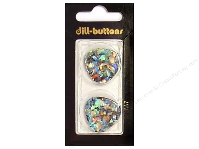 Dill 2 Hole Buttons 1 in. Black/Confetti #447 2pc.