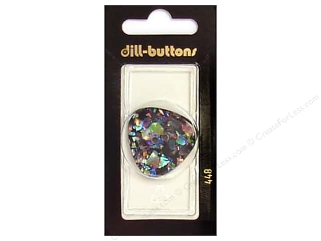Dill 2 Hole Buttons 1 1/4 in. Black/Confetti #448 1 pc.