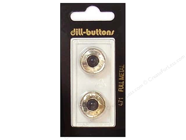 Dill Shank Buttons 11/16 in. Black/Silver Metal #471 2pc.