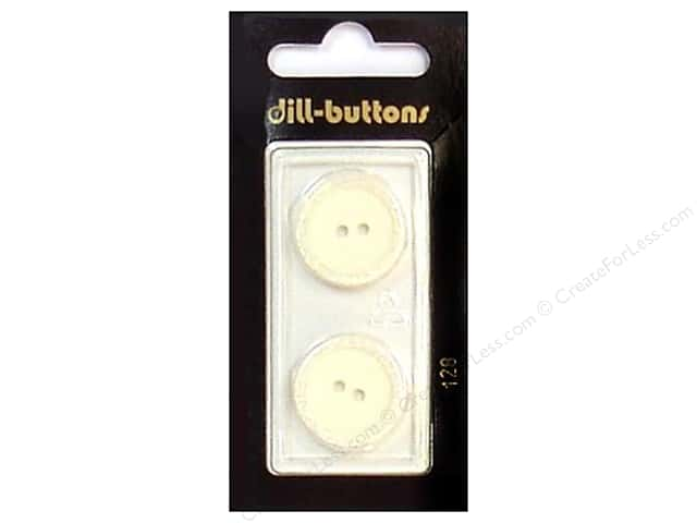 Dill 2 Hole Buttons 13/16 in. White #128 2pc.