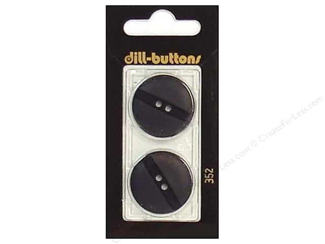 Dill 2 Hole Buttons 1 in. Black #352 2pc.
