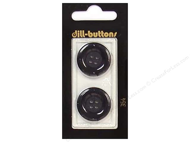 Dill 4 Hole Buttons 7/8 in. Black #354 2 pc.