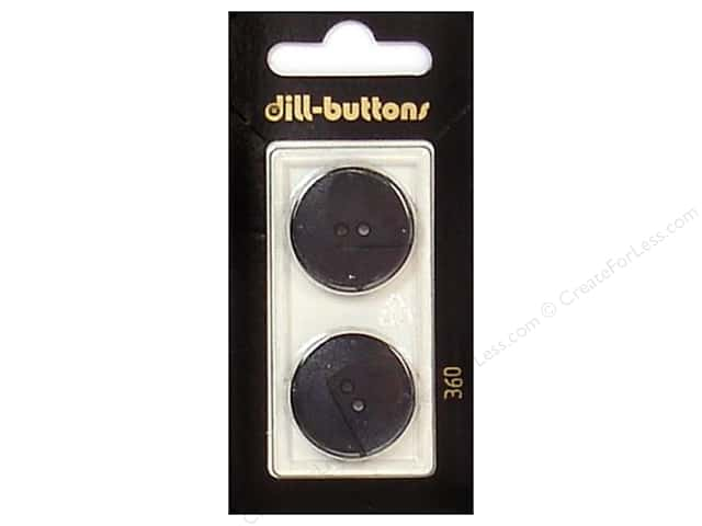 Dill 2 Hole Buttons 7/8 in. Black #360 2pc.