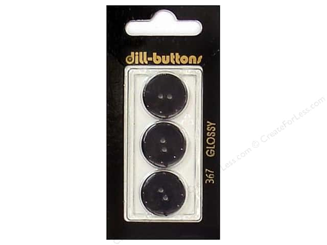 Dill 2 Hole Buttons 11/16 in. Black #367 3pc.