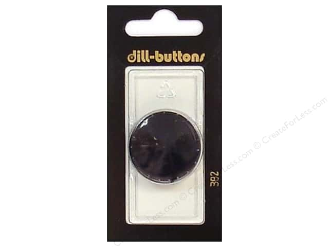 Dill Shank Buttons 1 1/8 in. Black #382 1pc.