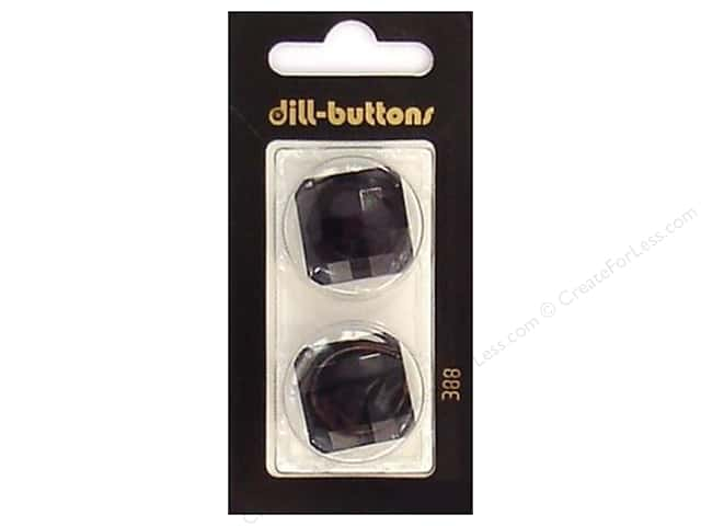 Dill Shank Buttons 1 in. Black #388 2pc.