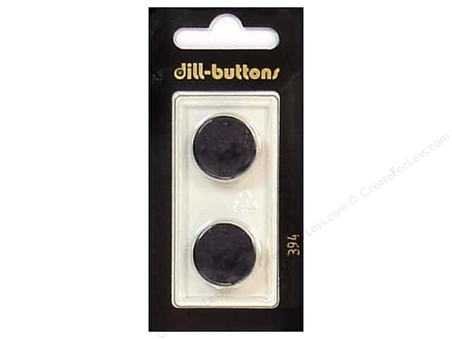 Dill Shank Buttons 11/16 in. Black #394 2pc.