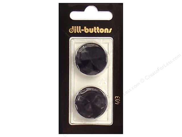 Dill Shank Buttons 7/8 in. Black #403 2pc.