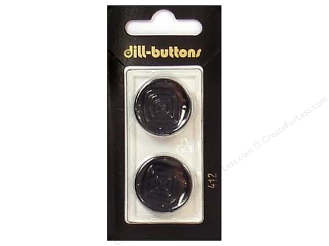 Dill Shank Buttons 7/8 in. Black #412 2pc.