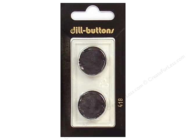 Dill Shank Buttons 13/16 in. Black #418 2pc.