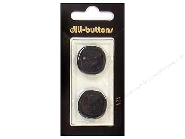 Dill Shank Buttons 7/8 in. Black #424 2 pc.