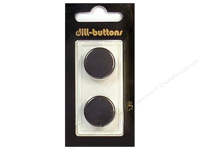 Dill Shank Buttons 13/16 in. Black #530 2pc.