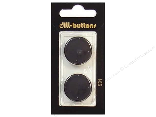 Dill Shank Buttons 7/8 in. Black #531 2pc.