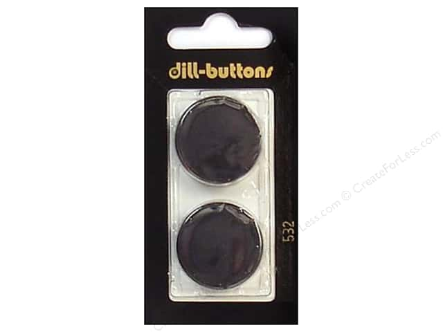 Dill Shank Buttons 1 in. Black #532 2pc.