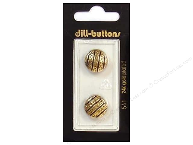 Dill Shank Buttons 5/8 in. Enamel Black/Gold #541 2pc.