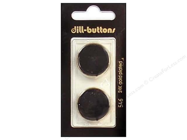 Dill Shank Buttons 7/8 in. Enameled Black #546 2pc.