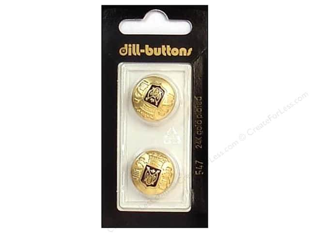 Dill Shank Buttons 11/16 in. Enamel Black/Gold #547 2pc.