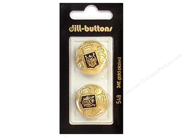 Dill Buttons 7/8 in. Enamel Black/Gold #548 2pc.