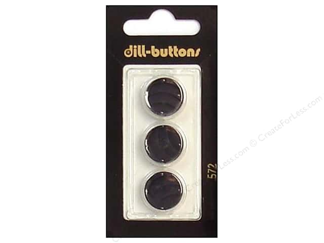 Dill Shank Buttons 5/8 in. Black #572 3pc.