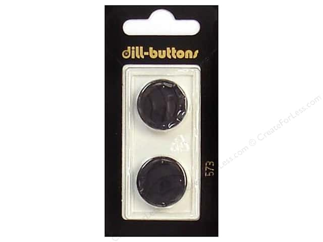 Dill Shank Buttons 13/16 in. Black #573 2pc.