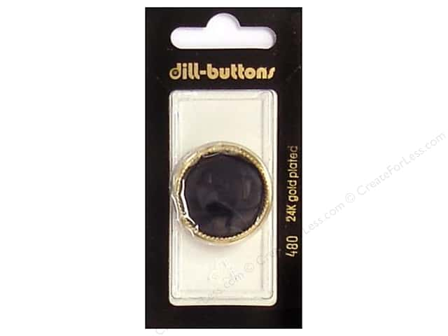Dill Shank Buttons 1 1/8 in. Black/Gold #480 1pc.