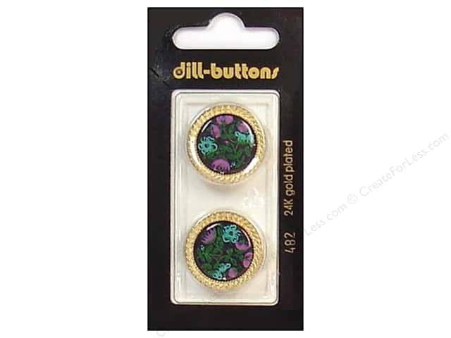 Dill Shank Buttons 7/8 in. Gold/Black #482 2pc.
