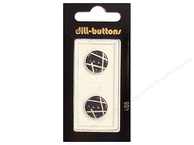 Dill 2 Hole Buttons 5/8 in. Black #488 2pc.