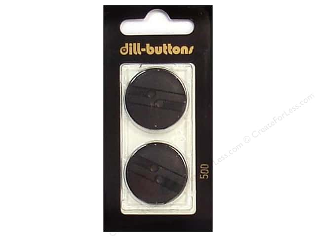 Dill 2 Hole Buttons 1 in. Black #500 2 pc.