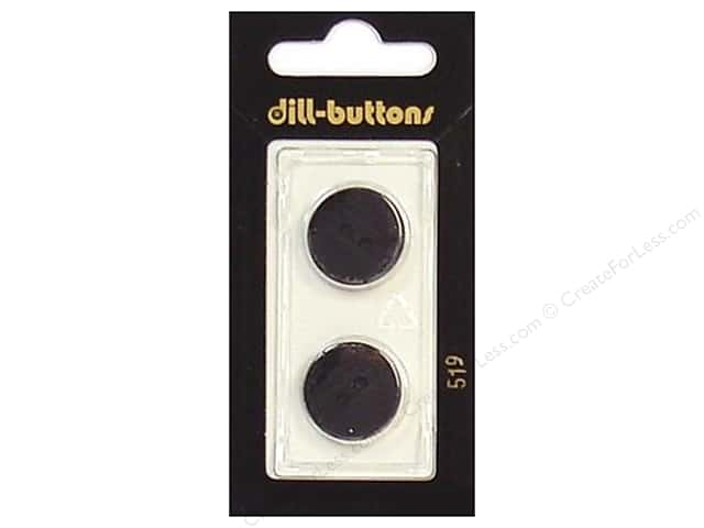 Dill 2 Hole Buttons 11/16 in. Black #519 2pc.