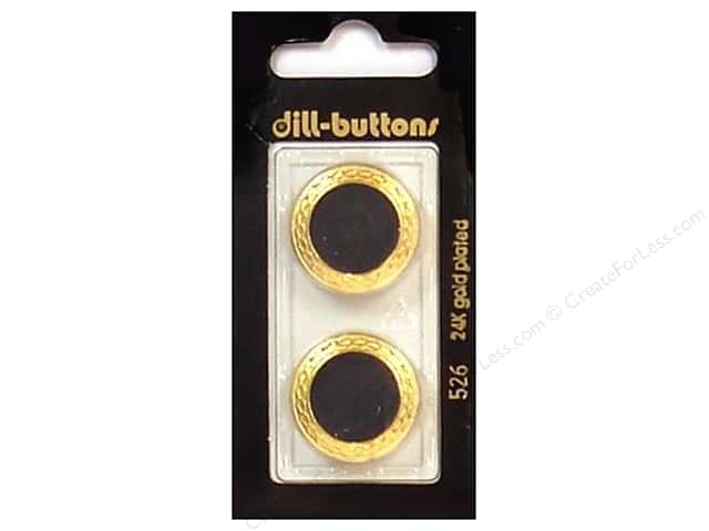 Dill Shank Buttons 7/8 in. Enamel Black/Gold #526 2 pc.
