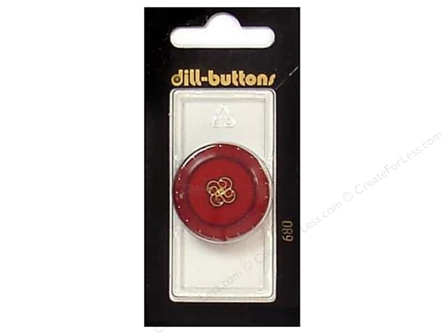 Dill Shank Buttons 1 1/8 in. Red/Gold #680 1 pc.