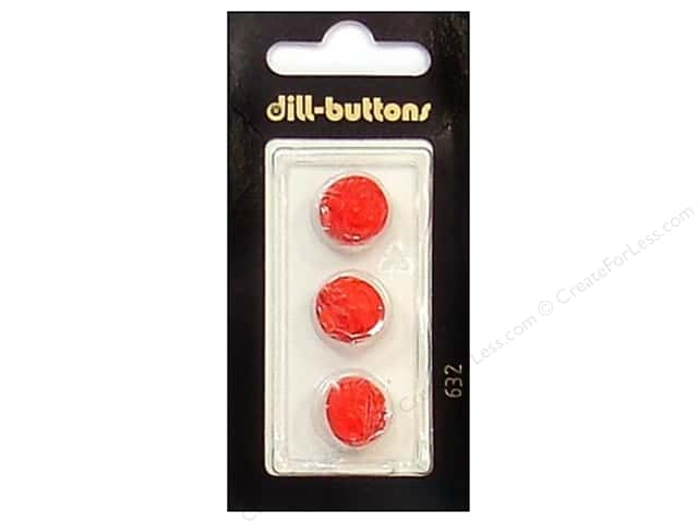 Dill Shank Buttons 1/2 in. Red #632 3pc.