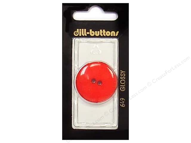 Dill 2 Hole Buttons 1 1/8 in. Red #649 1 pc.