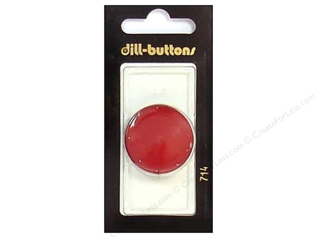 Dill Shank Buttons 1 1/8 in. Wine Red #714 1pc.